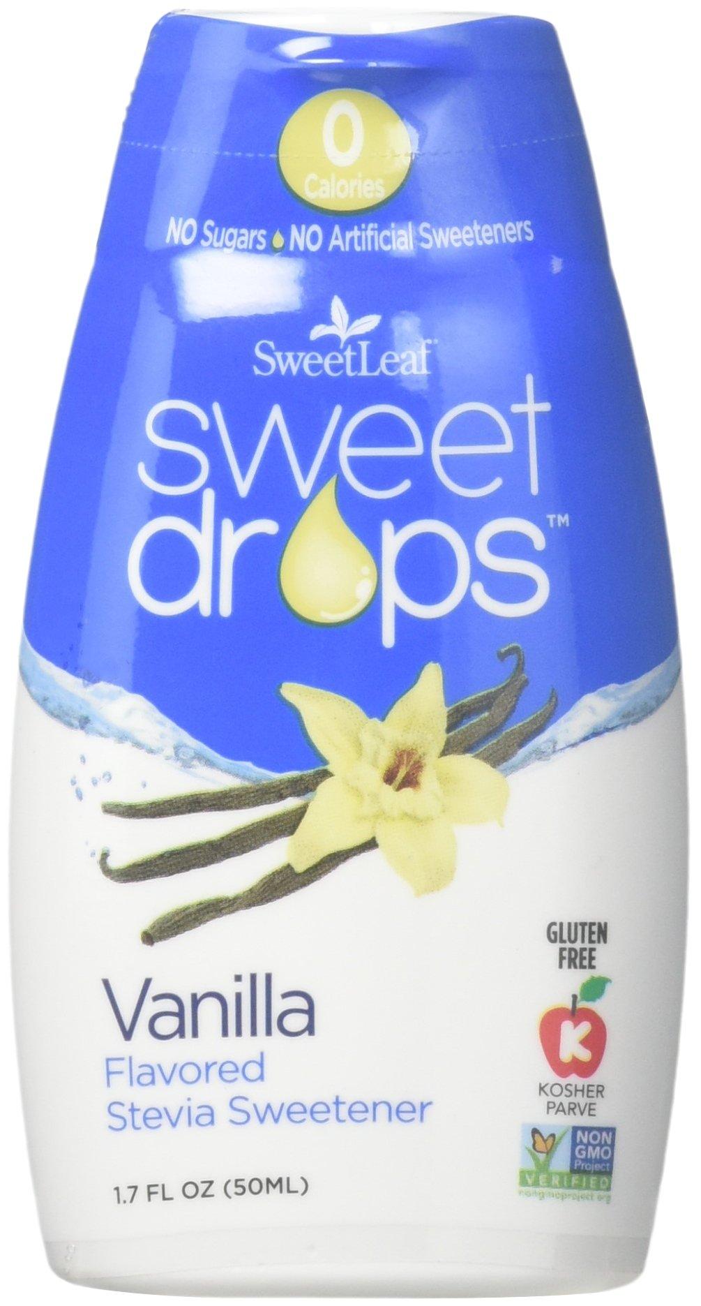 Wisdom Sweet Drops Vanilla 1.7 fl.oz 6 Pack by SweetLeaf