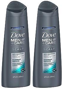 Dove Men+Care Dermacare Scalp 2-in-1 Shampoo + Conditioner, Dandruff Defense, 12 Ounce (Pack of 2)