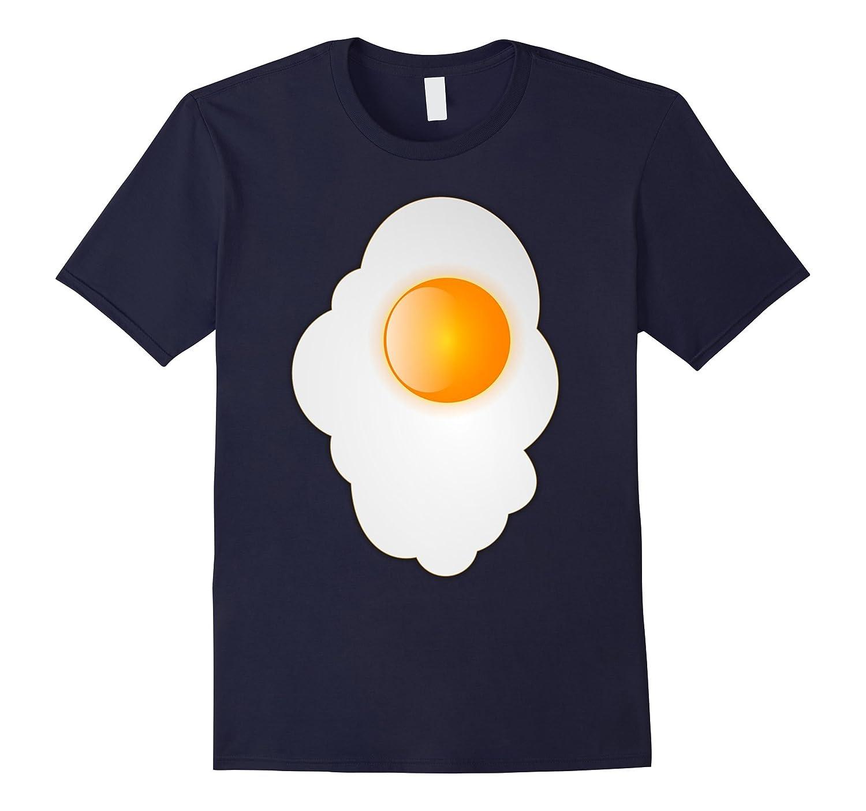 Fried Egg last minute funny Halloween costume tshirt-FL