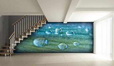 Parete Dacqua In Casa : Carta da parati goccia dacqua sulla pittura a olio ! 8 dimensioni