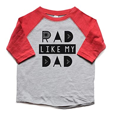 d151246b1 Amazon.com: Toddler Boy Rad Like Dad Raglan Shirt Father's Day Gift Kids  Tees Trendy New Baby/Dad Gift Heads Up Shirts: Clothing