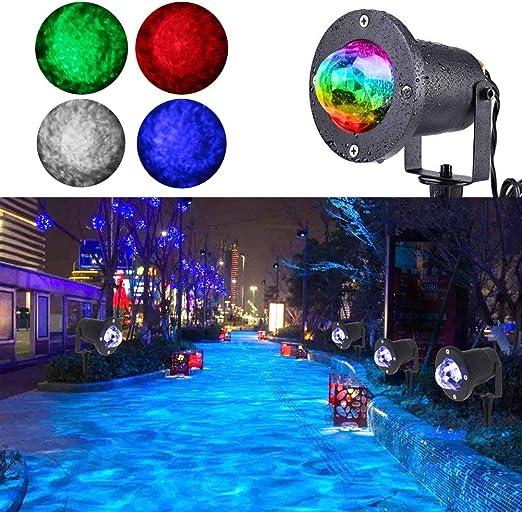 Amazon.com: koot Agua Luz de Efecto, 10 colores Proyector de ...