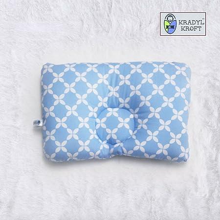 Kradyl Kroft Memory Foam Head Shaping Pillow for Baby (Happy Blue)