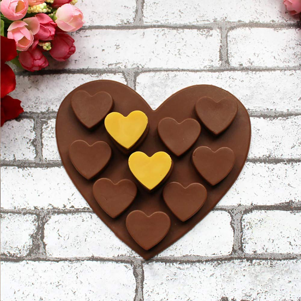 Amazon.com: Gessppo Love Heart Shaped Silicone Molds Fondant Bakeware Mold for Cake, Chocolate, Jelly, Pudding, Dessert Mould: Kitchen & Dining