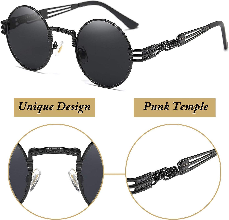 Joopin Rotondi Occhiali da Sole Polarizzati Uomo e Donne Retro Lennon Piccolo Cerchio Occhiali da Sole Hippie E4056