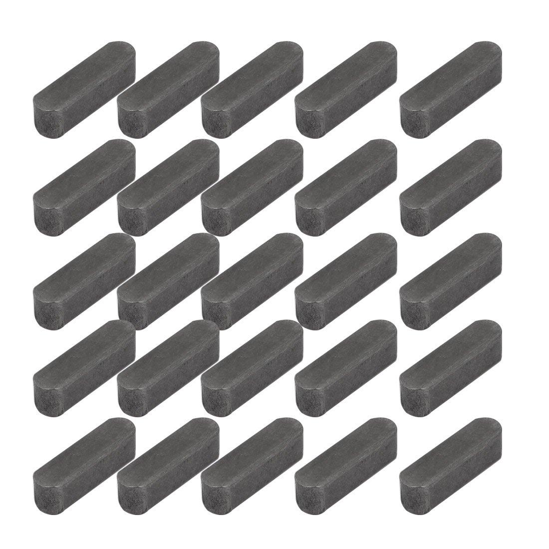 uxcell 22mmx6mmx6mm Carbon Steel Key Stock Keystock Gray 25pcs