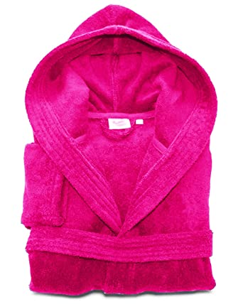 MENS LADIES UNISEX EGYPTIAN COTTON 500 GSM TERRY TOWELLING SHAWL COLLAR HOODED  BATHROBE  Amazon.co.uk  Clothing 70c5b5416