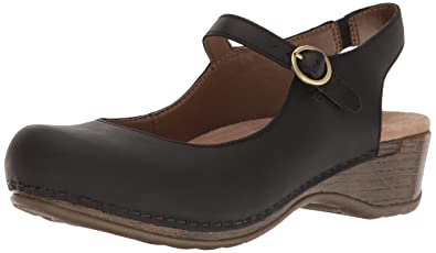 Dansko Womens 40 Mary Janes Clogs Shoes Brown Leather Comfort Nursing 9.5 10 Last Style Comfort Shoes