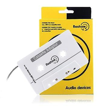 Adaptador de casete para viaje para coche, Reshow, apto para iPods, telé