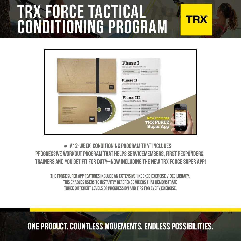 Amazon trx training force tactical conditioning program 12 amazon trx training force tactical conditioning program 12 week workout program sports outdoors fandeluxe Images