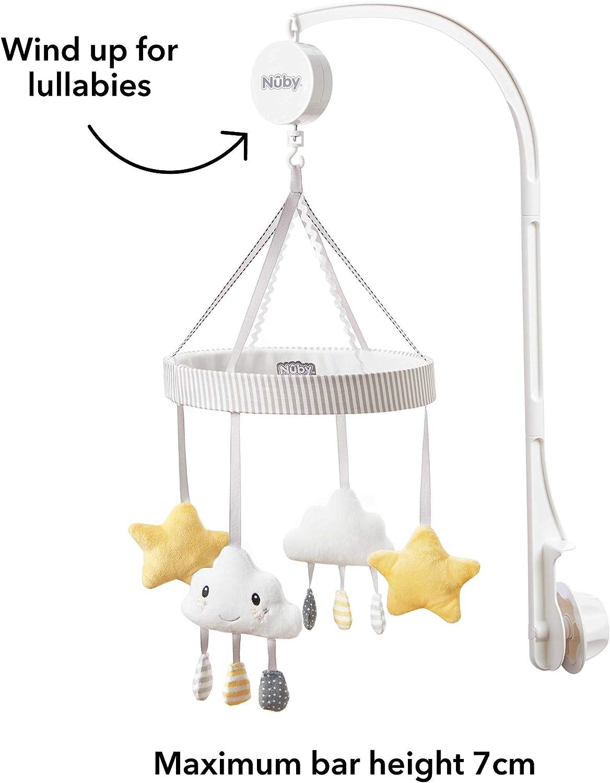 Nuby Cuna musical m/óvil para beb/és con nubes y estrellas giratorios juguetes
