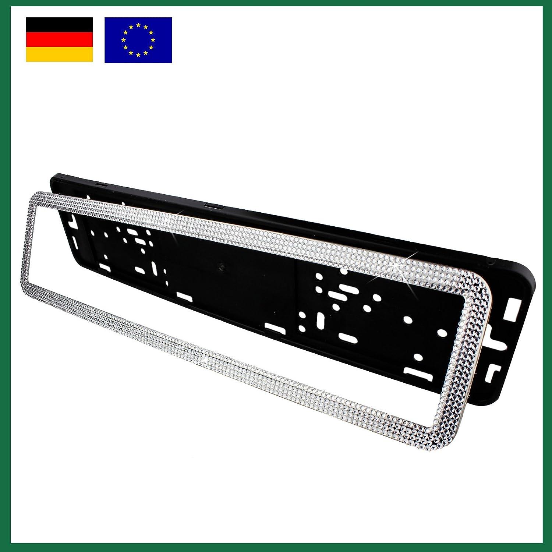 1xPC Hochglanz Deutschland Bling-bling Kennzeichenhalter ...