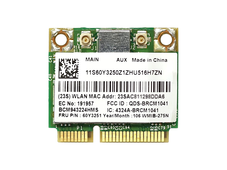 Dual Band 300Mbps Broadcom BCM43224 BCM943224HMS PCI-E Wifi Card FRU 60Y3251