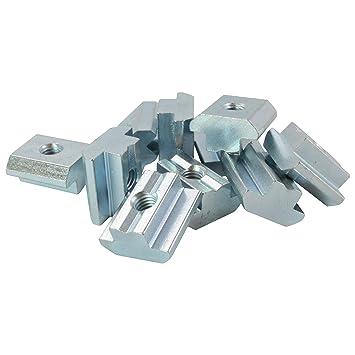 Stahl verzinkt 10x Nutenstein 6 St M6 Nut 6 Federkugel M6 ohne Steg Typ I