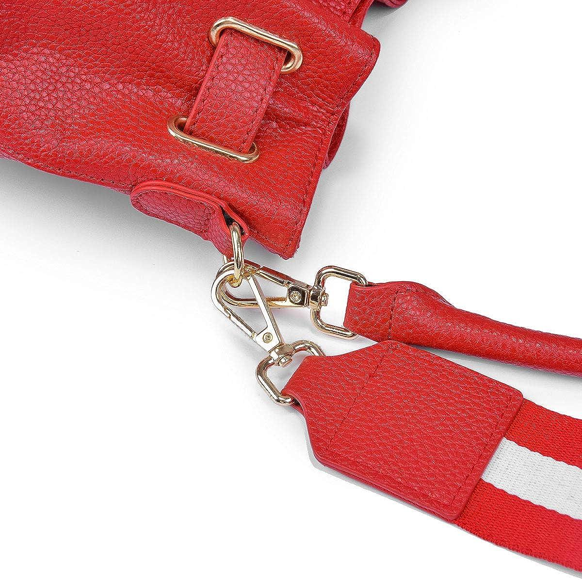 MWY Lederhandtaschen Mode Leder Eimer Tasche Schulter Messenger Bag mobile Handtasche Red