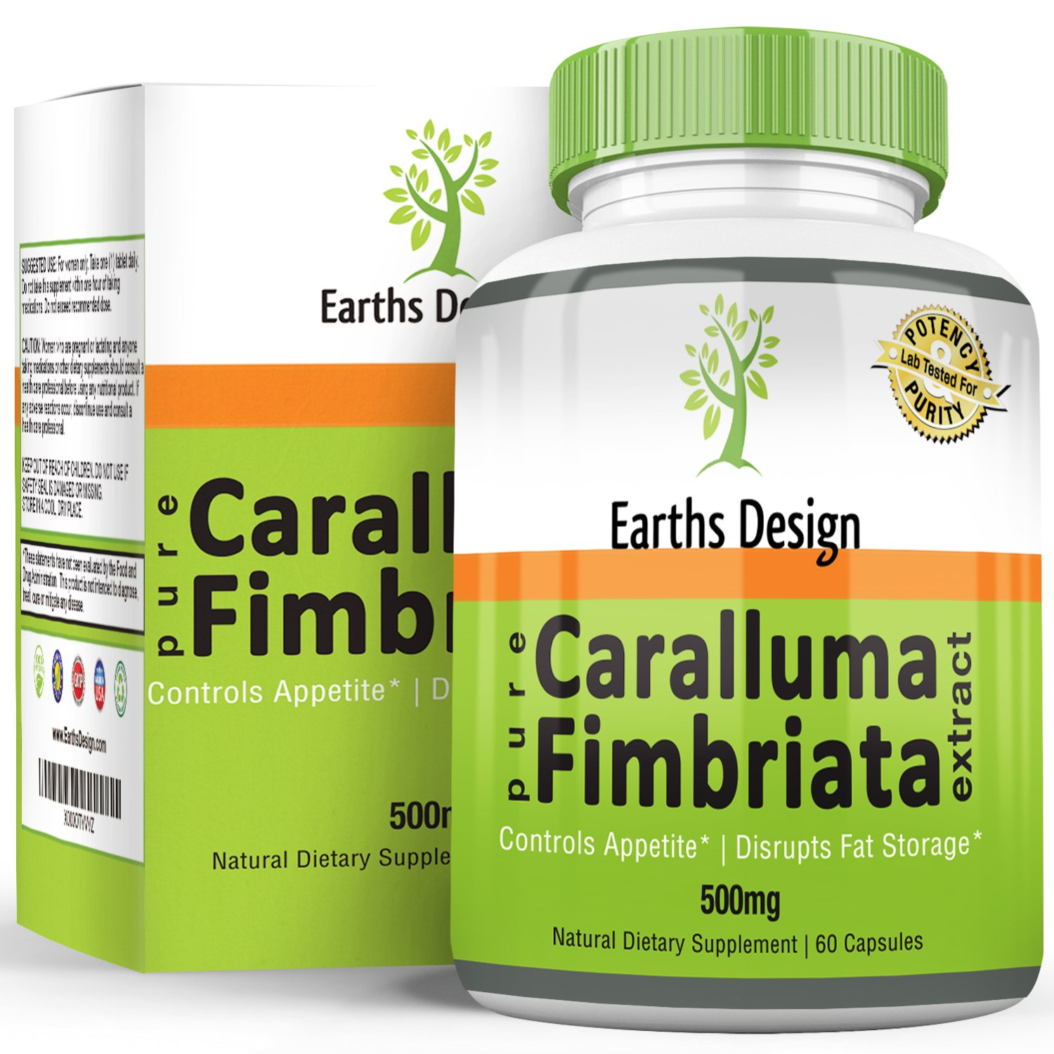 Earths Design Caralluma Fimbriata Diet Pill And Appetite Suppressant Maximum Strength For Weight Loss Boosts Metabolism A Carb Blocker That Helps