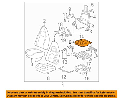 Prime Amazon Com General Motors Gm Oem Front Seat Seat Cushion Frame Wiring 101 Capemaxxcnl
