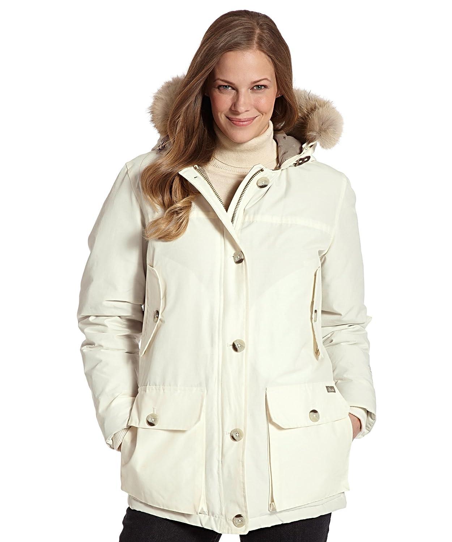 Amazon.com: Woolrich Arctic Parka – ecru-medium de la mujer ...