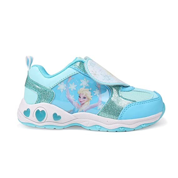 78a9196b006 Disney Frozen Elsa Light Up Trainers Infants Blue Sneakers Shoes Footwear:  Amazon.co.uk: Clothing