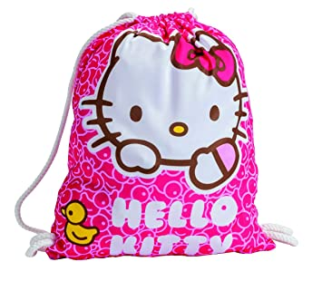 49c0eb50d11 Hello Kitty Drawstring Gym STIRNG Bag Drawstring Bag Flowers - Licensed  Sanrio Hello KItty Merchandise: Amazon.co.uk: Luggage