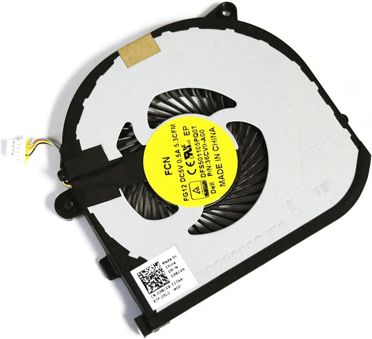 FOR DELL 36CV9 Genuine OEM Dell Precision 15 5510 XPS 15 9550 RIGHT side Cooling Fan DFS501105PQ0T