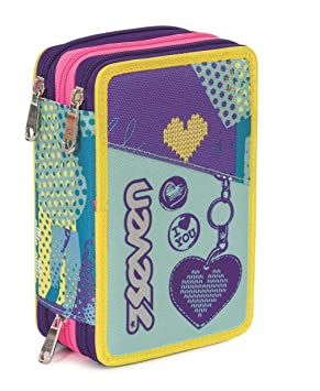 ESTUCHE escolar 3 pisos - SEVEN - LOVELY - Multi ...
