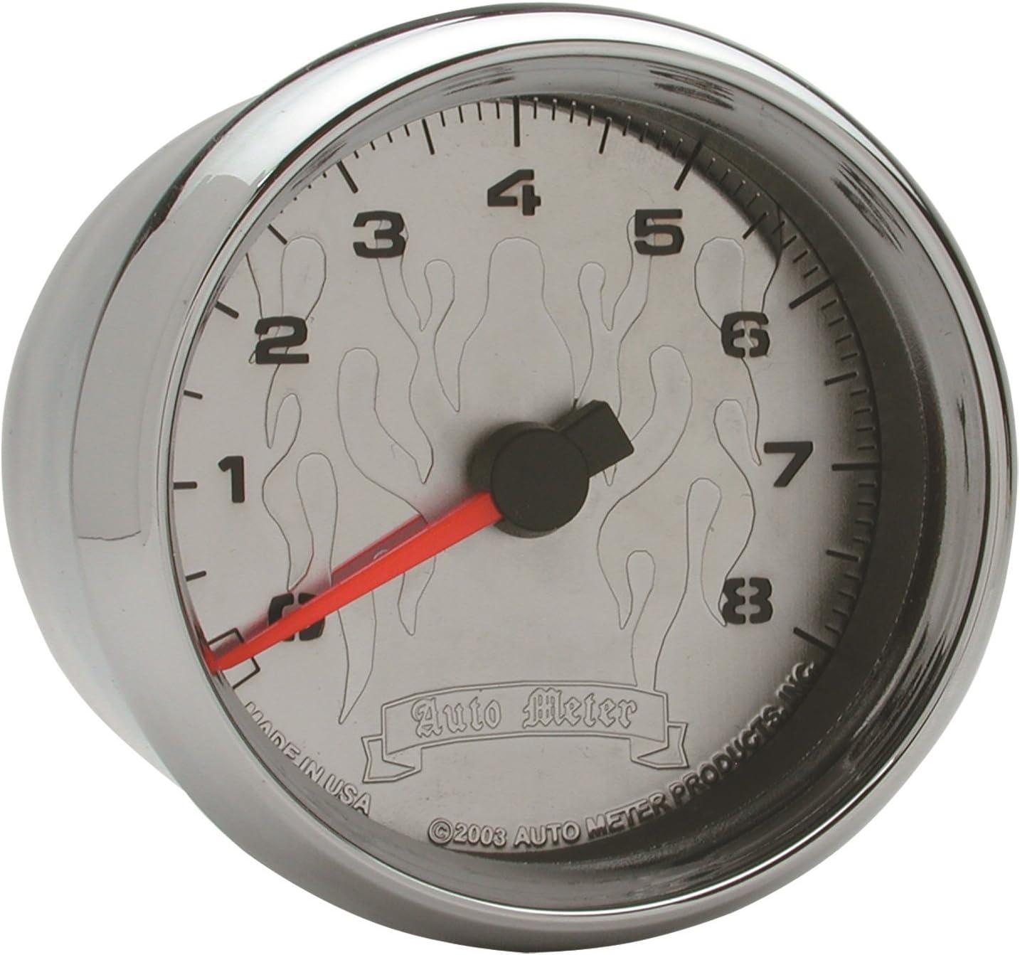 Black Pro-Cycle 2 5//8 2/&4 Cylinder Tach 8K RPM Auto Meter AutoMeter 19306 Gauge
