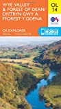 Ordnance Survey Explorer OL14 Wye Valley & Forest of Dean Map With Digital Version