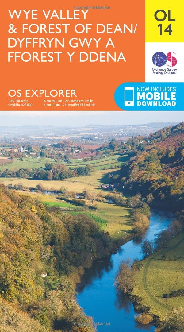 OS Explorer OL14 Wye Valley and Forest of Dean OS Explorer