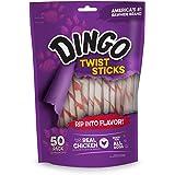 Dingo Twist Sticks Rawhide Chews, Made With Real Chicken