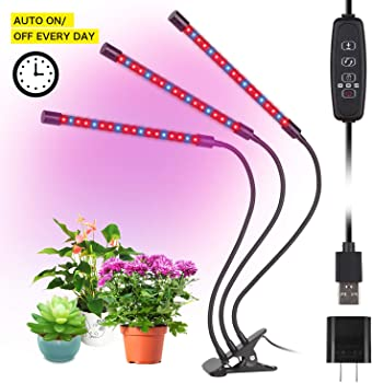 Ylcvbud 27-watt Triple-Head Gooseneck 54-LED Grow Light