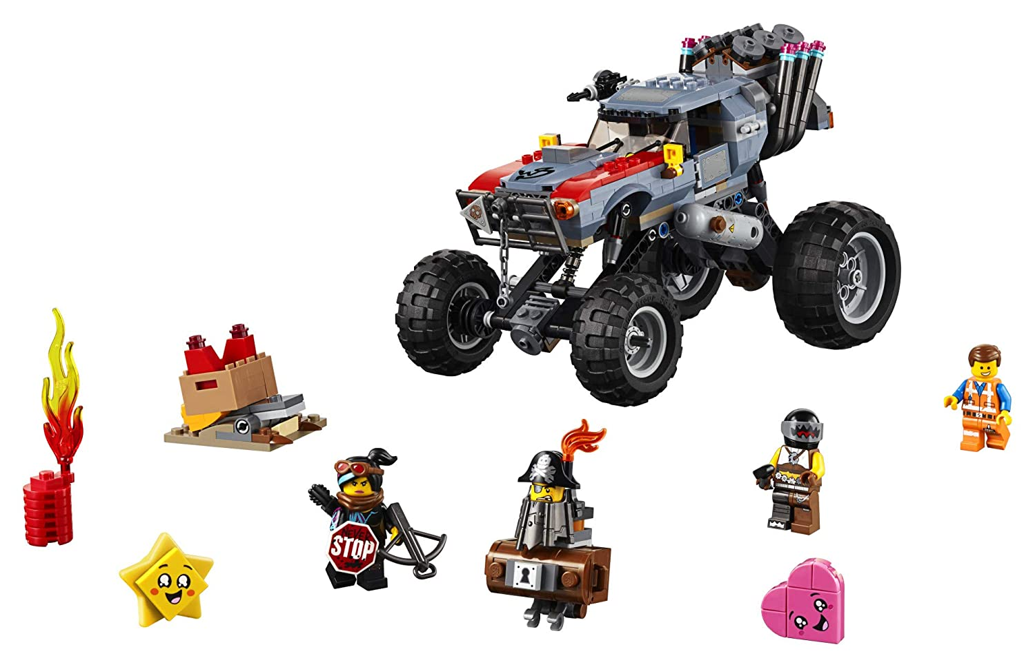 LEGO THE LEGO MOVIE 2 Escape Buggy 70829 Building Kit Build and Play Toy Car with Action Heroes 550 Pieces