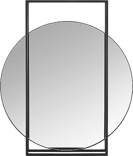 Rivet Modern Geometric Framed Hanging Mirror