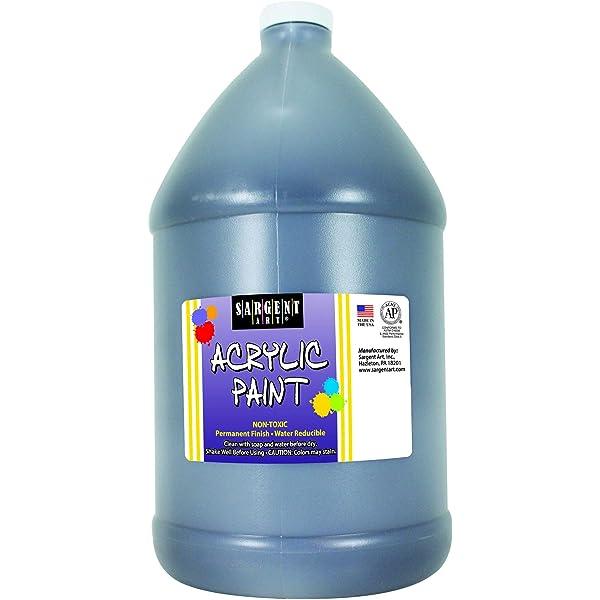 Amazon Com Sargent Art Half Gallon Acrylic Paint Black 64 Ounce 1 2 Gallon 22 2785