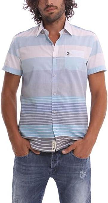 Desigual Franjas, Camisa para Hombre, Blanco M: Amazon.es ...