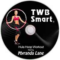 TWB Smart - Fat Burning Weighted Hula Hoop for Adults, Ab Sculpting Exercise, Adjustable Design with 8 Detachable Sections, Bonus Tape Measure, Free Fitness Training DVD