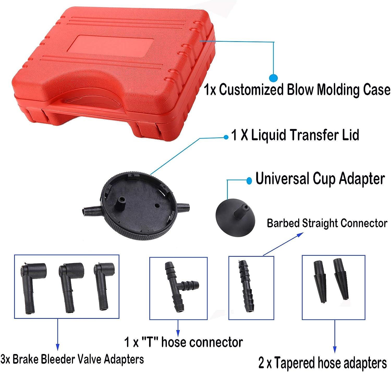 Motorcycle Vacuum Pump Tester with Gauge Jar Adapters Protected ...