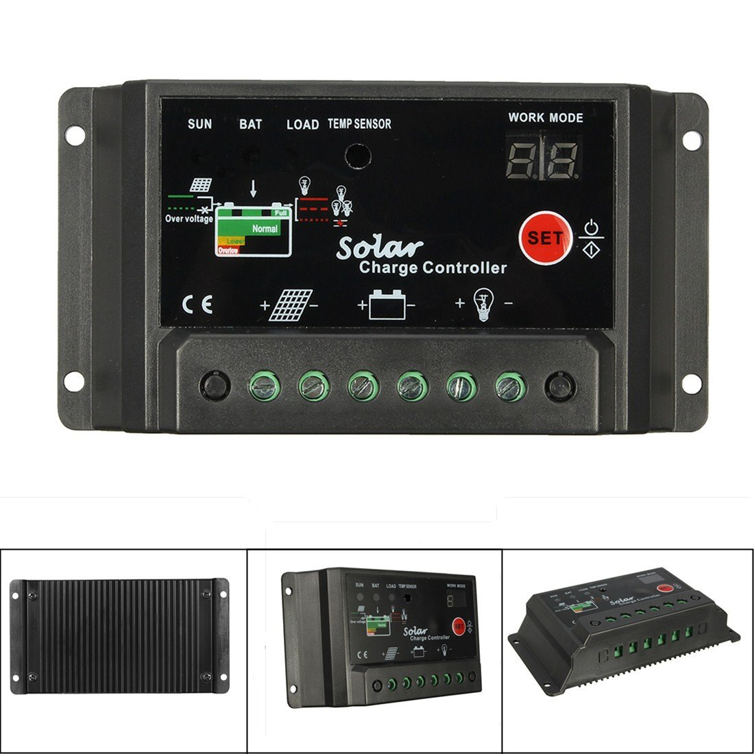 Amazon.com : Mohoo 30A Charge Controller Solar Charge Regulator ...
