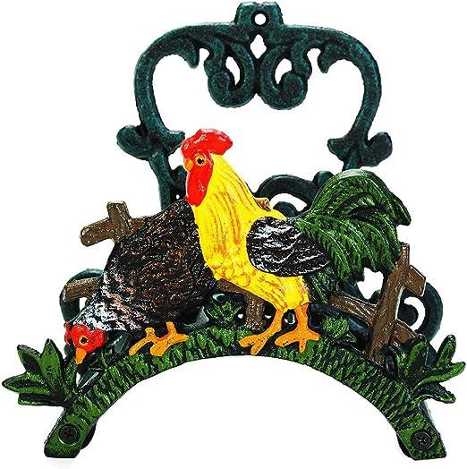 Vintage Ghisa Decorazione da Giardino Decorativo Ornamentale Appendere Alla