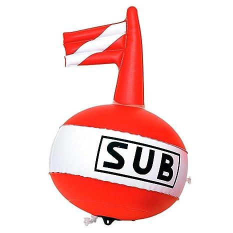 Boya de Señalización Supone Sub Mar Flotador Para Pesca Apnea Grande 36 cm