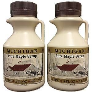 Traverse Bay Farms 100% Pure Michigan Maple Syrup - 2 - 8 oz. bottles