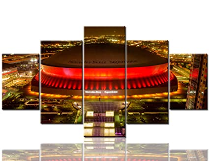 09893cb9 Modern Home Decor New Orleans Saints Pictures for Living Room Mercedes-Benz  Superdome Paintings American Football Wall Art 5 Panel Canvas Artwork ...