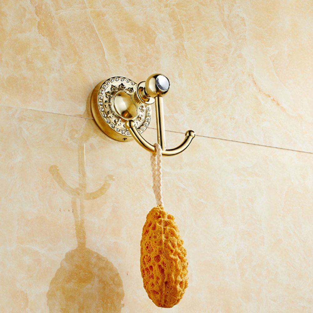 linked to the continental/Solid link/Coat hook/Bathroom hook/Linked to the wall behind the door-A delicate