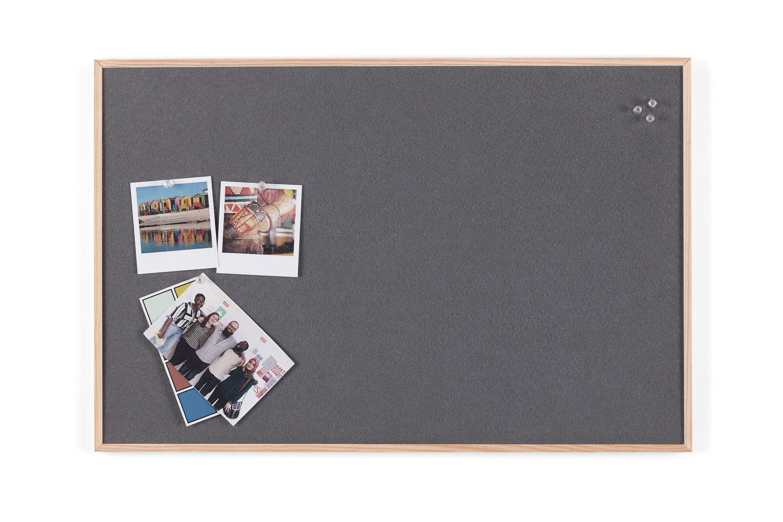 Bi-Office Pinnwand New Basic, Grauem Filz mit Weißem Holzrahmen, 585x385 mm FB34422215
