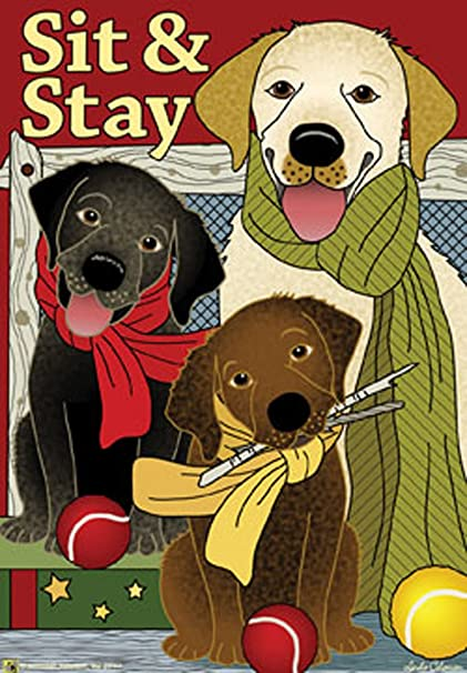 Sit U0026 Stay Labs Dog Garden Flag