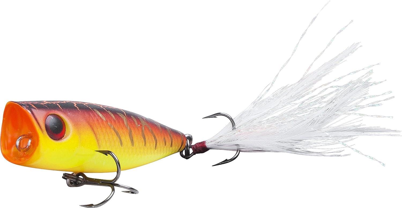 Fladen Maxximus Predator di pesca Fire Tiger pesce persico preda Popper/ /5/g//9,5/cm Doppio alti con passante frontale esche ideale per pesci predatori /piuma plugbait/