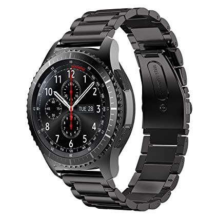 Gear S3 Frontier Band XL/Large, Oitom Premium Solid Stainless Steel Watch Bands Link Bracelet Strap for Samsung Gear S3 Classic Gear S3 Frontier ...