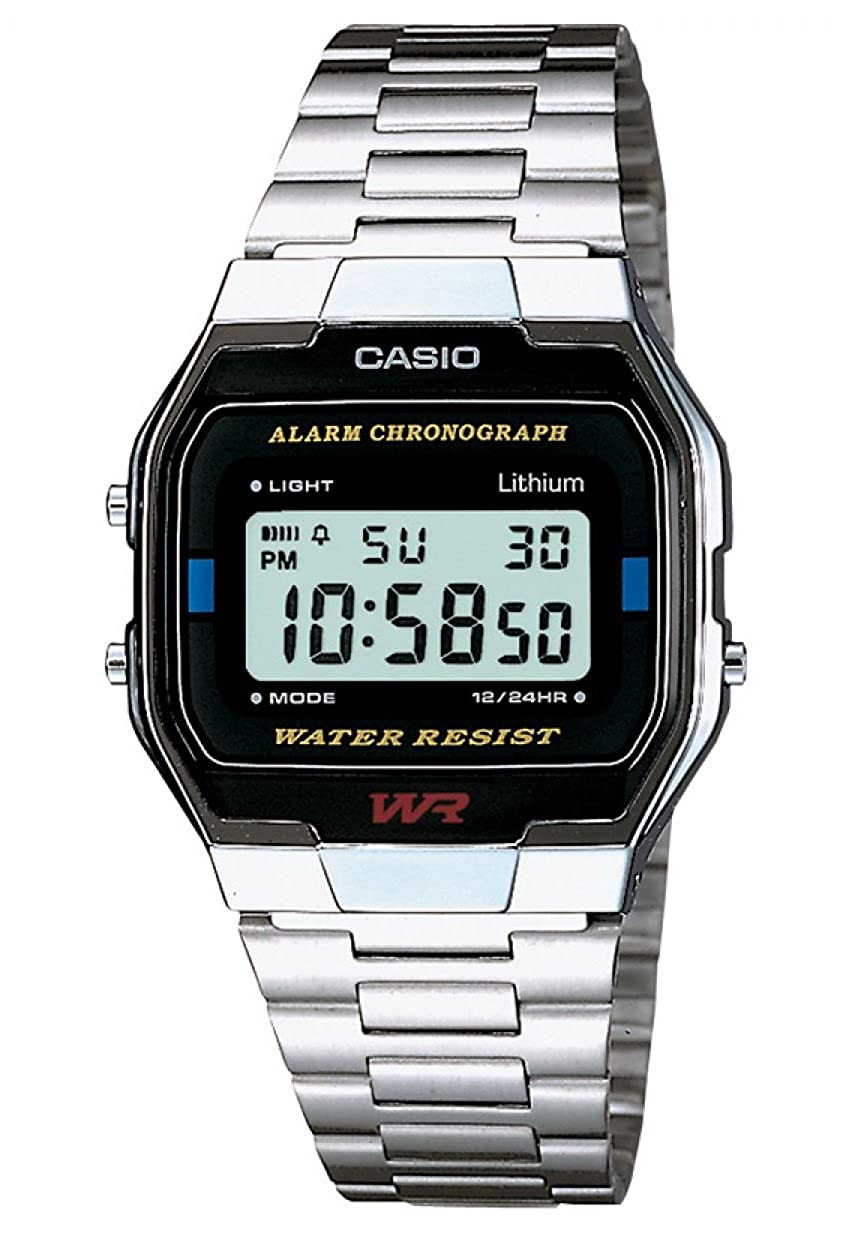 Casio Retro Herrenuhr in Silber – A163WA-1QES