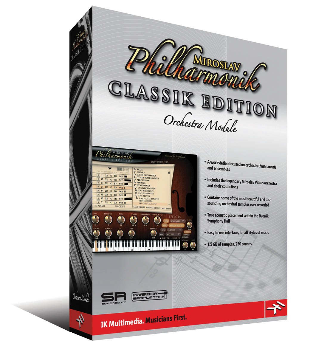 MIROSLAV PHILHARMONIK CLASSIKEDITION ORCHESTRA MODULE SOFTWARE IK Multimedia BOX-MP-0003