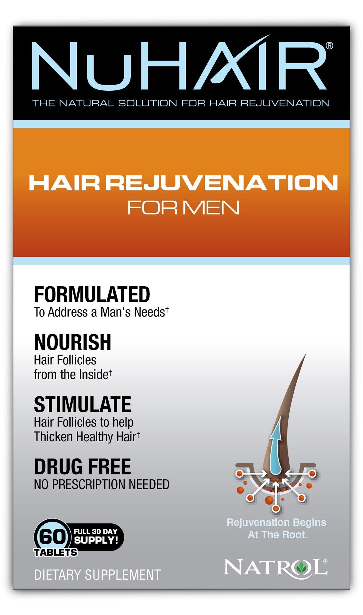 NuHair Hair Rejuvenation for Men, Tablets, 60 Count